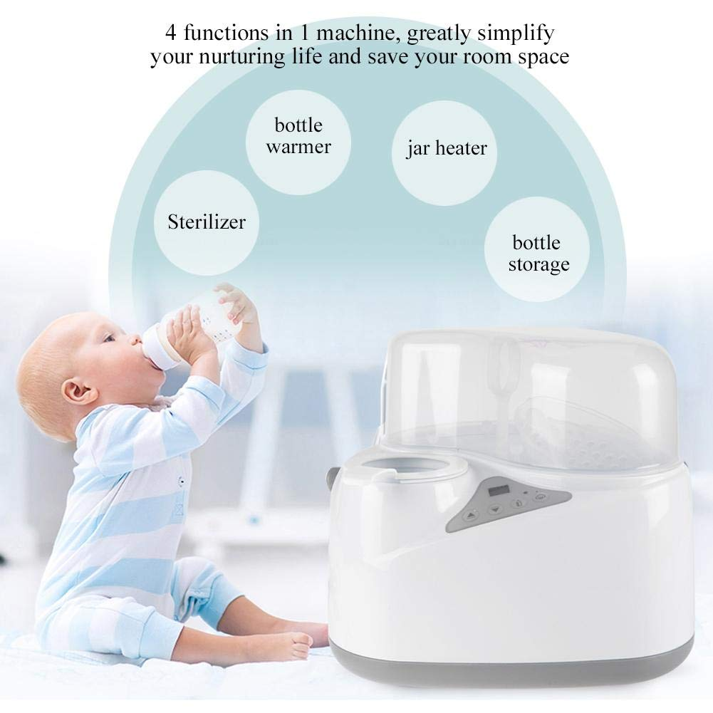 Babyflaschenw/ärmer Elektrische Milch Heizung 4 in 1 Multifunktionale S/äuglingsnahrung Milch Heizung Lagerung Sterilisator Heizung Maschine EU Plug