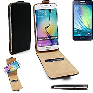 Caso Smartphone para Samsung Galaxy A5 cubierta del estilo del tirón 360°, negro, cubierta del tirón - K-S-Trade