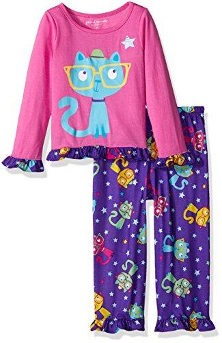 komar-kids-girls-big-girls-smarty-cat-2pc-set-purple-2t