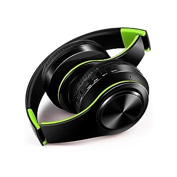 Auriculares, USB Carga Plegable Inalámbrico Bluetooth Bass Surround Laptop Games, Phone Call, Sport