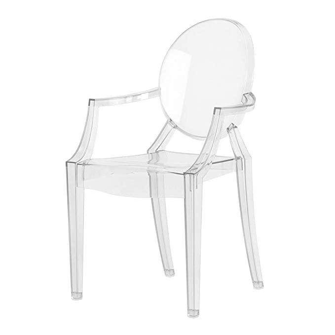 Kartell Loulou Ghost Silla, Policarbonato, Cristal, 37x63x39 ...