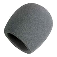 Parabrisas de espuma Shure A58WS-GRA para todos los micrófonos de tipo de bola Shure, gris