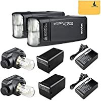 GODOX AD200 TTL 2.4G HSS 1/8000s 2Pcs Pocket Flash Light Double Head 200Ws with 2900mAh Lithium Battery Flashlight Flash Lightning