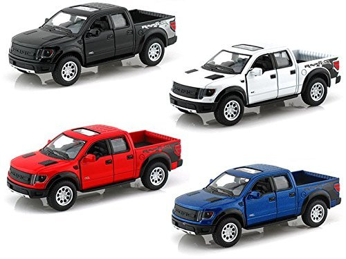 (Set of 4 - 2013 Ford F-150 SVT Raptor Supercrew 1/46 by Collectable Diecast)