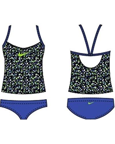 Nike Swim NESS5482 Girls V-Back Tankini, Lyon Blue-8