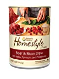 Prairie Homestyle Beef and Bison Stew Canned Dog Food by Nature's Variety, 13.2-Ounce Cans (Pack of 12), My Pet Supplies