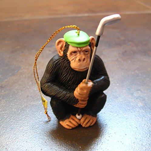 Will Bullas Fine Art Chimp Shot Christmas Ornament Greenwich - Greenwich Shops