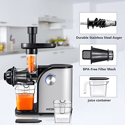 Aicok Slow Juicer Ersatzteile : Aicok Slow Masticating juicer, Cold Press Juice Extractor, Stainless Steel, Quiet Motor, High ...