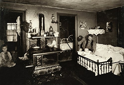Hine Mill Housing 1912 Na Polish American Mother With Her Children In Their Crowded Three Room Apartment Shared Between Eight Workers At The Olneyville Cotton Mill In Providence Rhode Island Photograp