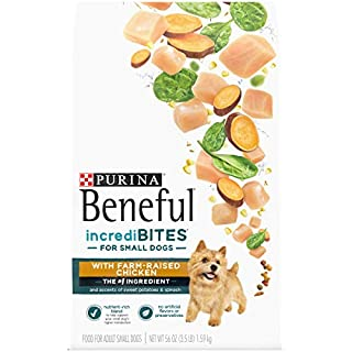 Purina Beneful Incredibites With Farm-Raised Chicken, Small Breed Dry Dog Food - (4) 3.5 lb. Bags