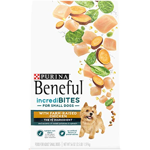 Purina Beneful Incredibites With Farm-Raised Chicken, Small Breed Dry Dog Food – 3.5 lb. Bags (4 Pack)
