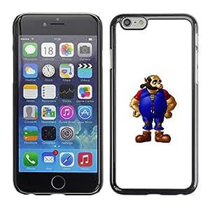 EJOY---Cubierta de la caja de protección la piel dura para el / Apple Iphone 6 Plus 5.5 / --Hombre barbado