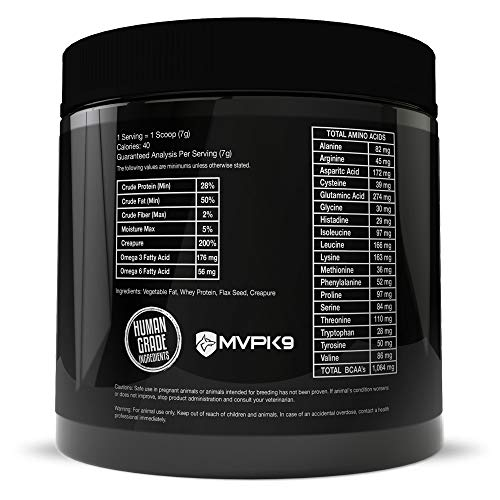 Picture of MVP K9 Supplements Formula Mass Weight Gainer for Dogs (90 Servings) Made in The USA - Helps Increase Weight & Adds Mass on Skinny Dogs. (90 Servings)
