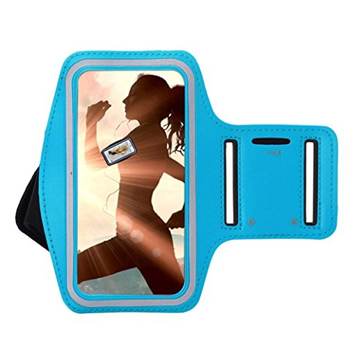 DDLBiz Gym Running Sport Arm Band Cover Case For Samsung Galaxy S8 5.8inch (Sky Blue) - Sporty Neoprene Phone Case