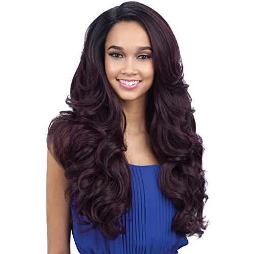 FreeTress Equal Synthetic Hair Lace Front Wig Lace Deep Invisible L Part Folami (1B)