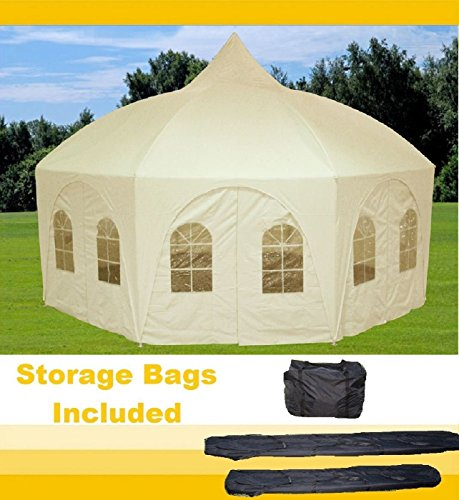 20'x20' Octagonal Wedding Gazebo Party Tent Canopy Shade - By DELTA Canopies