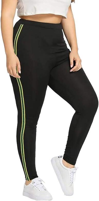 Risthy Mallas Leggins Mujer Fitness Pantalones Largos Deporte Tallas Grandes Cintura Alta Correr Yoga Deportivo Pilates Delgazada Deportivos Elasticos Pantalones Rayas Lentejuelas Casual Amazon Es Ropa Y Accesorios