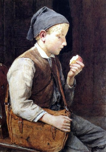 Albert Anker Boy Eating an Apple - 18.05