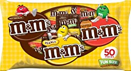 M&M\'s Fun Size Mix Variety Bag, 50-Piece, 30.50-Ounce