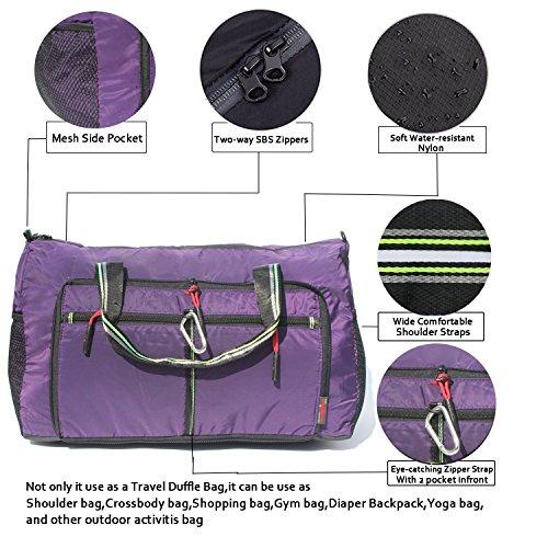 Foldable Travel Bag Duffle Bag Organizer Storage Lightweight Sports Gym Tote Bag by Alpaca Go (Image #2)