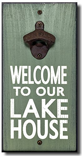 Cheap My Word! Lake House – Wooden Wall Mounted Bottle Opener