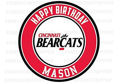 Cincinnati Bearcats Edible Cake Topper Personalized Birthday 10
