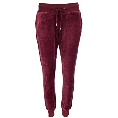 347b892acfeb PUMA Women s x Fenty by Rihanna Velour Fitted Track Pants Tawny Port X-Large  30