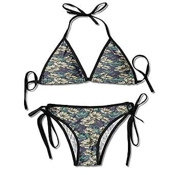 Amazon.com: kjhep lk Two Pieces Bikini Swimsuit,Flowers