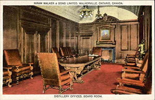 (Distillery Offices, Board Room, Hiram Walker & Sons Limited Walkerville, Ontario Original Vintage Postcard)