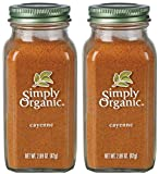 SJRXBWTS Cayenne Pepper Certified Organic, 2.89 oz Containers, 2 Pack