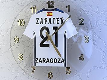 La Liga - Español camiseta de fútbol relojes de pared - cualquier nombre, cualquier número, cualquier equipo - personalización gratuita., hombre, REAL ...
