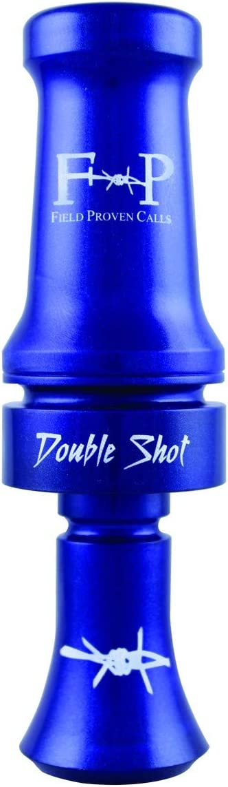 FIELD PROVEN CALLS DOUBLE SHOT POLY DUCK CALL  BLUE PEARL