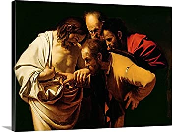 Michelangelo Caravaggio Gallery-Wrapped Canvas entitled The Incredulity of St. Thomas, 1602-03