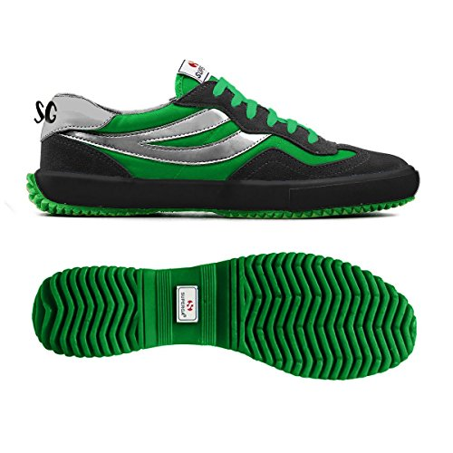 Sneakers - 2832-suenylm Elio Black-Green Kelly