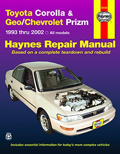 Toyota Corolla & Geo/Chevrolet Prizm Automotive Repair - Venture Chevrolet Manual