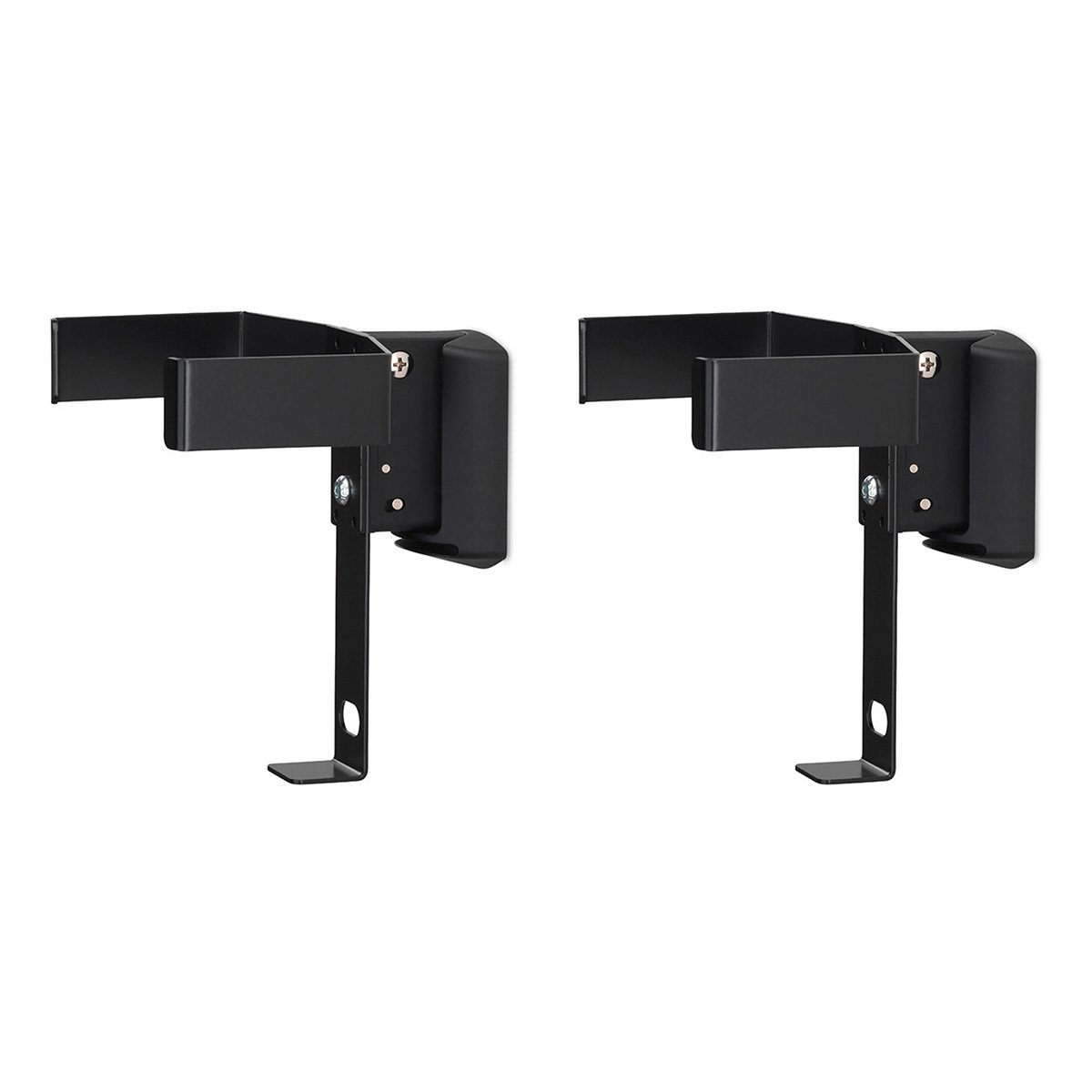 SoundXtra Wall Mounts for Bose SoundTouch 10 - Pair (Black) by SoundXtra