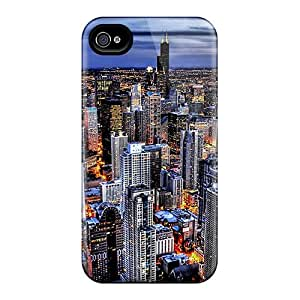 For Iphone 4/4s Premium Tpu Case Cover City Beauty Protective Case