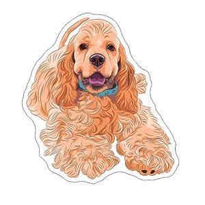 American Cocker Spaniel Vinyl Bumper Sticker Decal Dog Pet Family Love 1