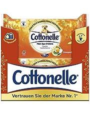 Cottonelle Spolbara Våtservetter, Fuktig Toalettpapper, Orange Olja, 44 st