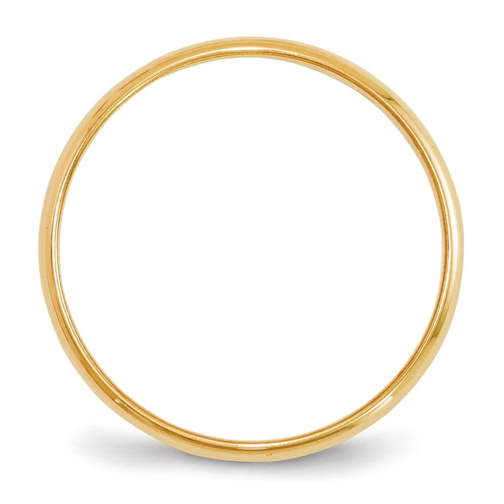 Jewel Tie 14k Yellow Gold 2mm Half Round Wedding Band