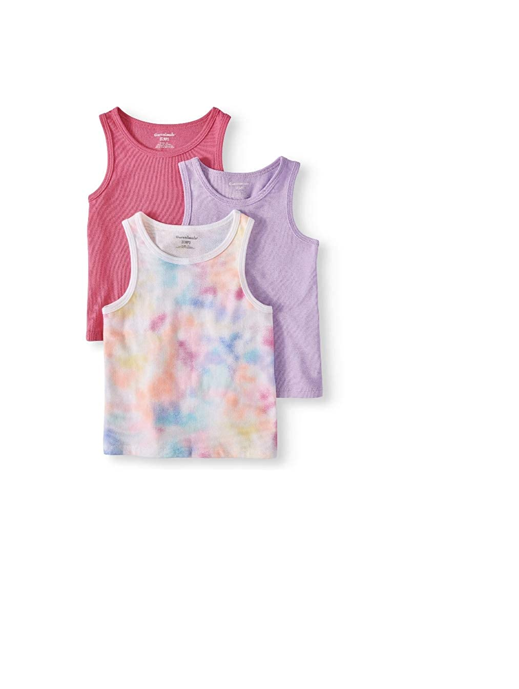 bda382fbc8700 Amazon.com: Garanimals Toddler Girls Solid & Printed Tank Tops, 3PC ...