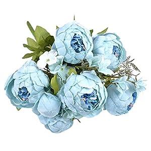 B Blesiya Retro Artificial Silk Peony Flower Bouquet Wedding Venue Decor Table Centerpiece - 13 Colors Available 25