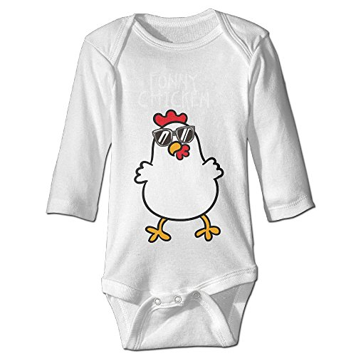 7r4e Baby Funny Chicken With Sunglass Baby Cotton Joys Outfit Long Sleeve - Sunglasses With Chicken