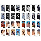 32Pcs BTS Love Yourself Tear Postcard Lomo Card Set with 10 Photo Clips 4 Meter String 1 3D Sticker