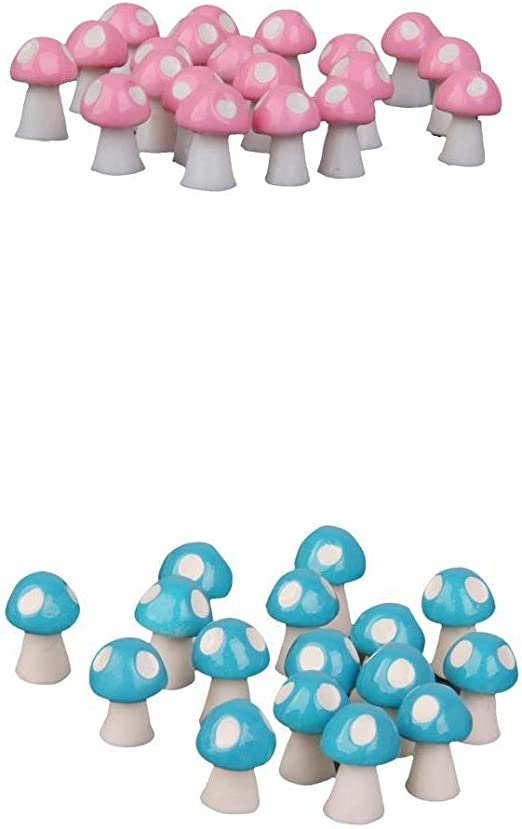 20X Cute Mini Mushroom Garden Ornament Miniature Plant Pots Fairy Dollhouse  DOS