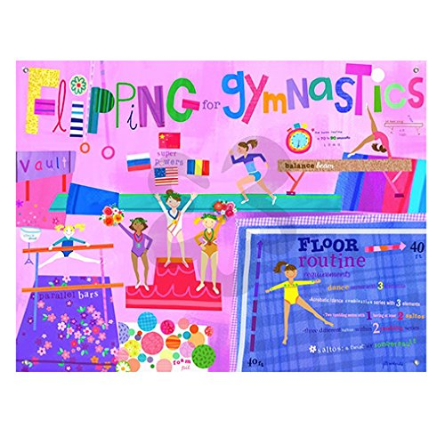 Oopsy Daisy Flipping For Gymnastics Stretched Canvas Art, 24'' x 18''