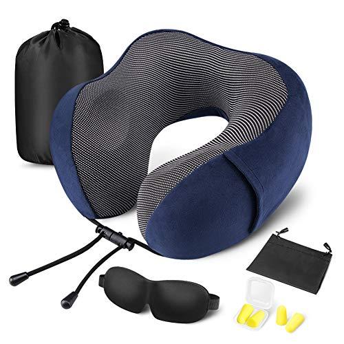 Moico12 Travel Pillow 100% Pure Memory Foam