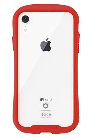 4c992dad56 Amazon   iFace Reflection iPhone XR ケース クリア 強化ガラス [レッド ...