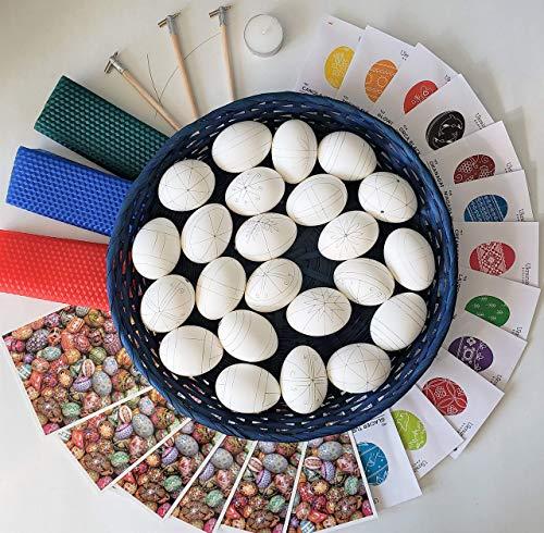 (Pysanky supplies gift set Kistka beeswax dyes Ukrainian Easter egg decorating kit gift set )