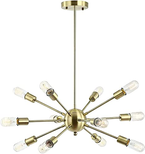 Modern Brass 18 Arm Sputnik Chandelier Light Fixture The New Antique Store